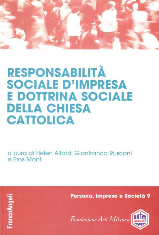 Responsabilità sociale d'impresa e dottrina sociale della Chiesa cattolica book cover