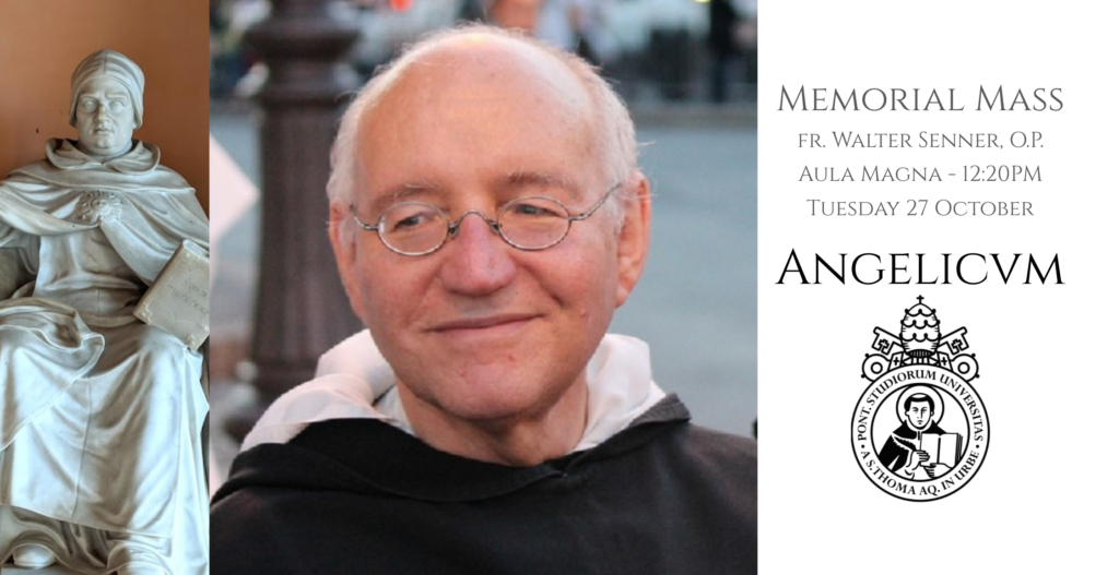 Mass in Memorial of fr. Walter Senner OP