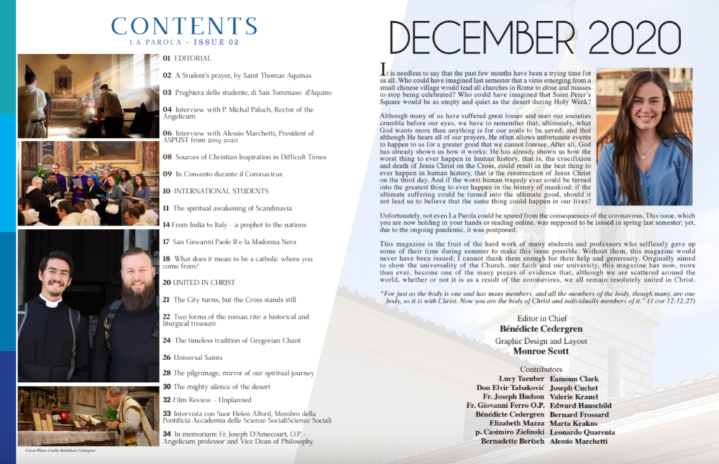 table of contents and editorial