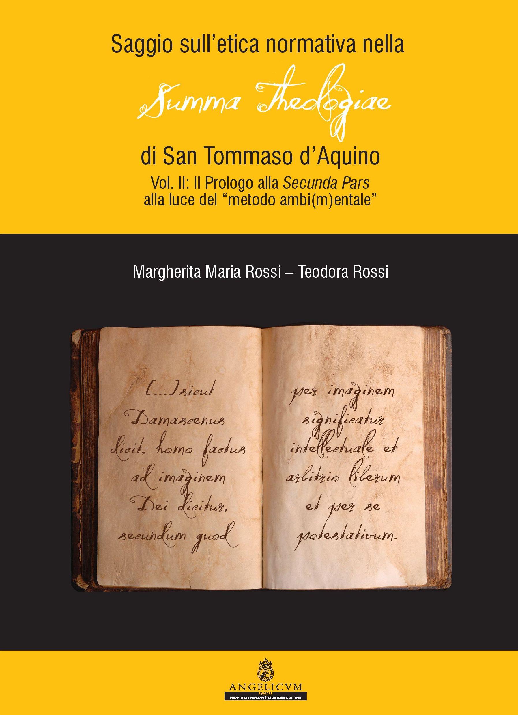 Saggio sull'etica normativa nella Summa Theologiae di San Tommaso d'Aquino book cover
