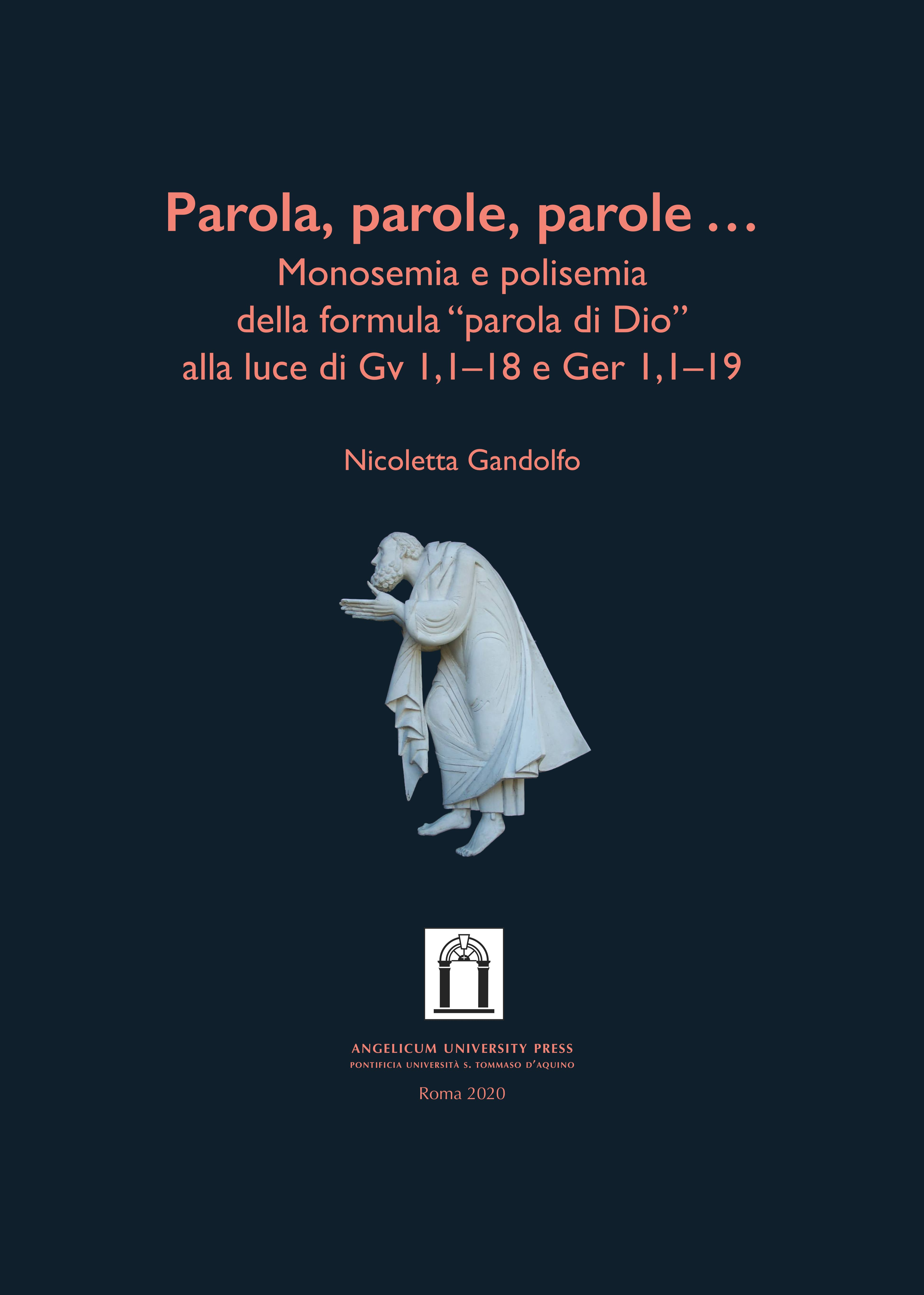 Parole, parole, parole… book cover